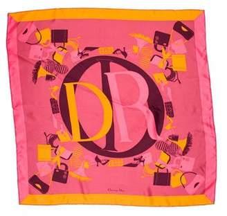 Christian Dior Printed Square Scarf
