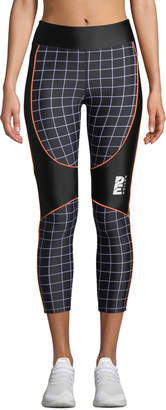 P.E Nation The Hammer Throw Cropped Performance Leggings