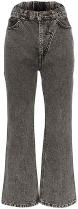 pushBUTTON Flared high-waisted jeans