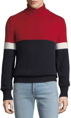 Ralph Lauren Men's Cashmere Colorblock Turtleneck Sweater