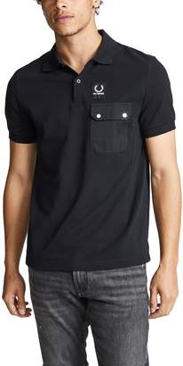 Raf Simons Fred Perry By Fred Perry by Pocket Detail Pique Shirt
