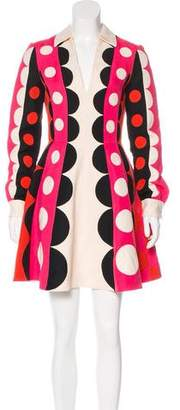 Valentino Printed Long Sleeve Dress