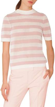 Akris Punto Stripe Cotton Sweater