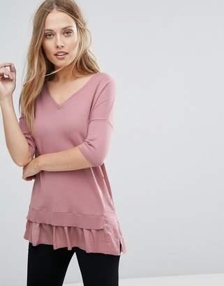 Warehouse Frill Hem Sweater