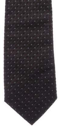 Prada Silk Jacquard Tie brown Silk Jacquard Tie