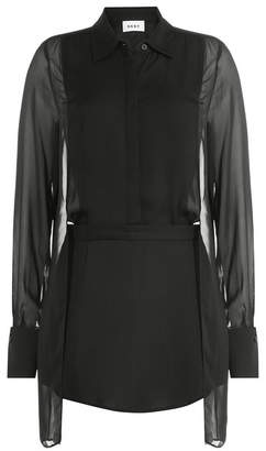 DKNY Sheer Panel Blouse