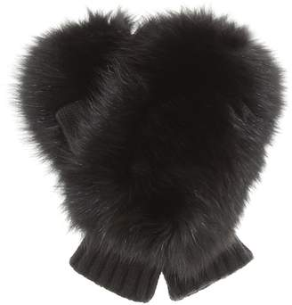 Moncler Genius 2 1952 fur-trimmed gloves