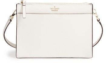 Kate Spade New York Cameron Street Clarise Leather Shoulder Bag - Beige