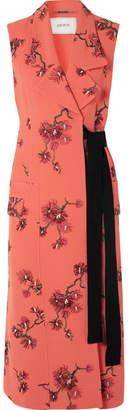 Erdem Embroidered Crepe Vest - Pink