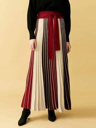 LAGUNAMOON (ラグナムーン) - ラグナムーン パネルカラーニットマキシスカート