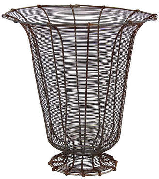 One Kings Lane Vintage French Wire Garden Urn - Debra Hall Lifestyle