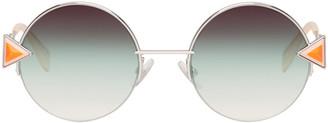 Fendi Silver Rainbow Sunglasses $545 thestylecure.com