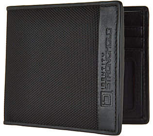 ID Stronghold RFID Men's Nylon and LeatherWallet