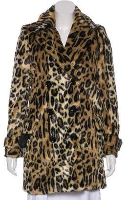 Alice + Olivia Faux-Fur Short Coat w/ Tags