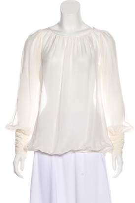 Rachel Zoe Long Sleeve Sheer Blouse