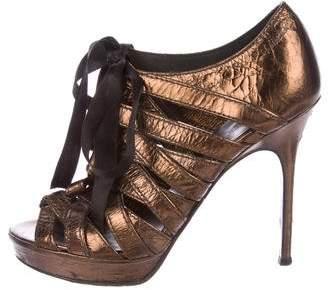 Bruno Frisoni Metallic Cage Sandals