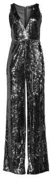 Jay Godfrey Kent Stretch Sequin Jumpsuit