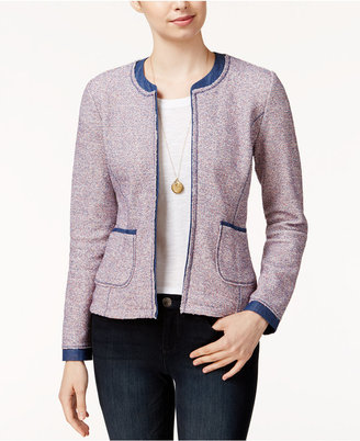 Maison Jules Tweed Denim Blazer, Only at Macy's $79.50 thestylecure.com