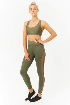 Forever 21 Active Mesh-Panel 7/8 Leggings