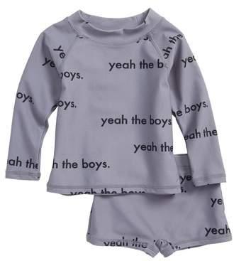 TINY TRIBE Yeah the Boys Two-Piece Rashguard Swimsuit