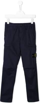 Stone Island Junior compass badge trousers