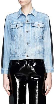 FURUGI-NI-LACE Graphic print patchwork denim jacket