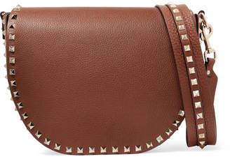 Valentino Garavani The Rockstud Textured-leather Shoulder Bag - Tan