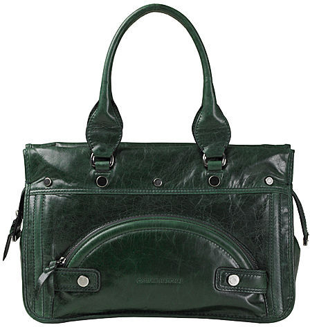 Costume National Leather Bag with Grommets