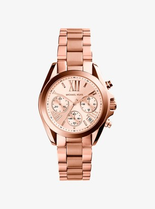 Michael Kors Mini Bradshaw Rose Gold-Tone Stainless Steel Watch