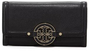 Tory Burch Amanda Continental Flap Wallet, Black