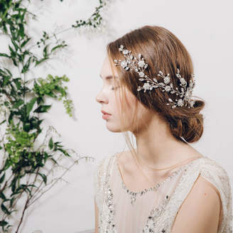 Carlisle Debbie Large Statement Crystal Silver Wedding Hair Vine Sybil