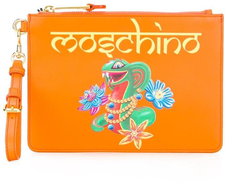 MoschinoMoschino snake clutch bag