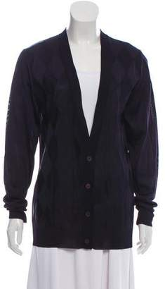 Balenciaga V-neck Patterned Cardigan