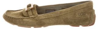 UGG Australia Shearling-Lined Suede Moccasins $95 thestylecure.com