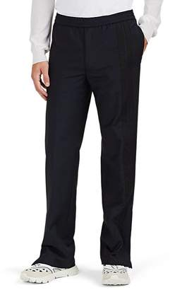 Valentino Men's Striped Wool-Mohair Track Pants