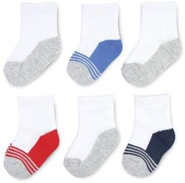 On The GoldbugTM 6-Pack Quarter Socks