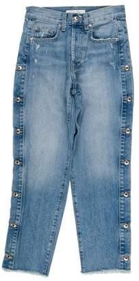 Jonathan Simkhai High-Rise Straight-Leg Jeans w/ Tags