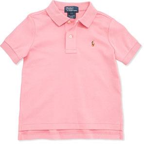 Ralph Lauren Short-Sleeve Cotton Polo, Pink, Toddler Boys' 2T-3T