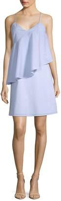 Saks Fifth Avenue BLACK Women's Ruffle Front Dress