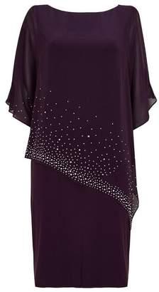 Wallis Purple Embellished Overlay Dress