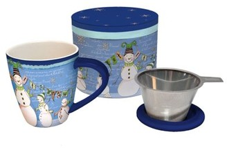 Lang Glowing Snowman Tea Infuser Mug