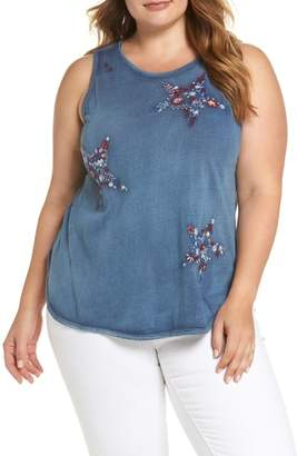 Lucky Brand Star Embroidered Tank