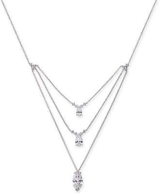 "Danori Crystal Triple Pendant Necklace, 16"" + 2"" extender"