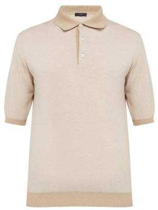 BEIGE Thom Sweeney - Cotton Pique Polo Shirt - Mens