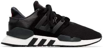adidas black EQT Support 91/18 leather sneakers