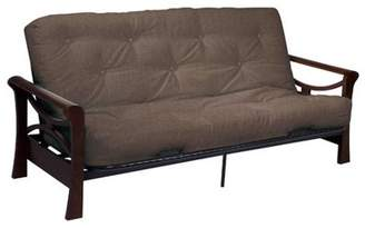 Serta Diablo Dark Cocoa sofa w/ Cypress deco fabric futon