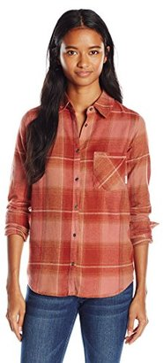 Element Juniors Gutter Long Sleeve Flannel Plaid Shirt $19.47 thestylecure.com