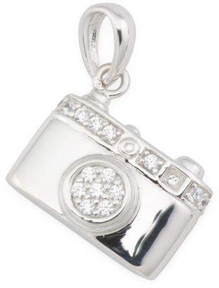 Sterling Silver Cz Camera Charm