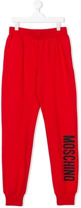 Moschino Kids TEEN logo track pants