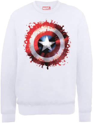 Marvel Avengers Assemble Captain America Art Shield Sweatshirt